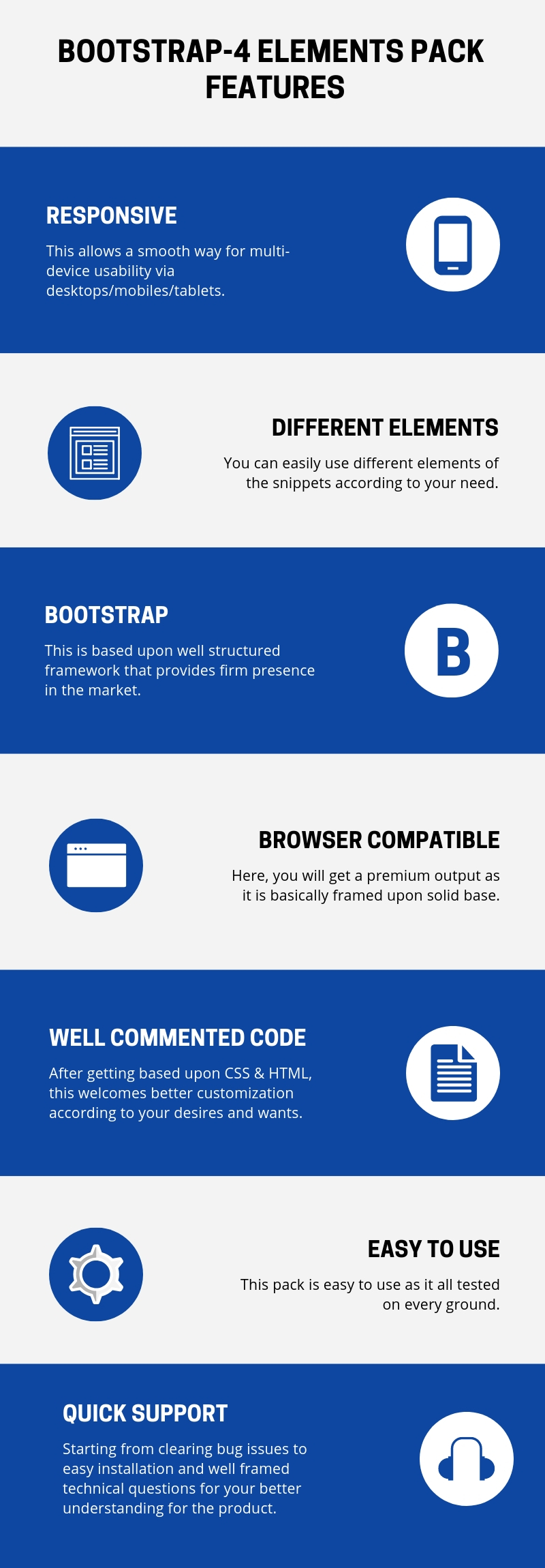 Bootstrap-4 Elements Pack Download