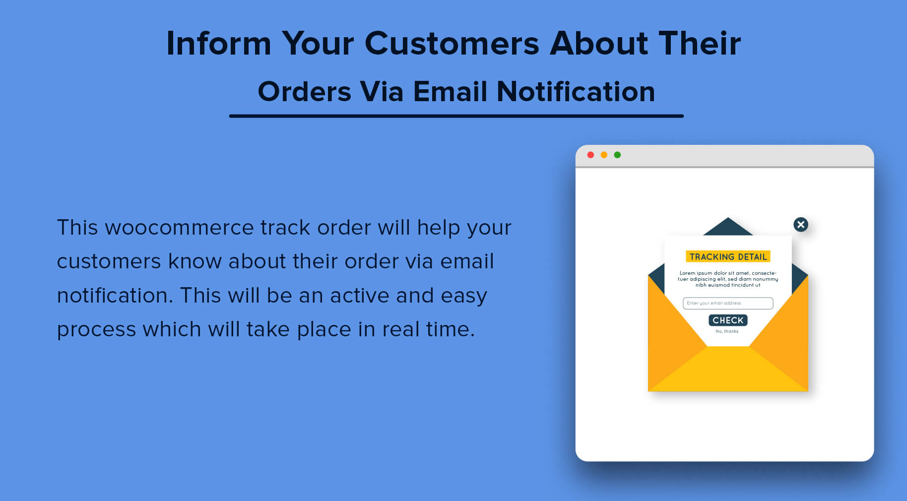 Inform Your Customers About Their Orders Via Email Notification